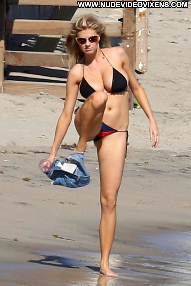 Charlotte Mckinney No Source Candids Bikini Sexy Black Babe Posing