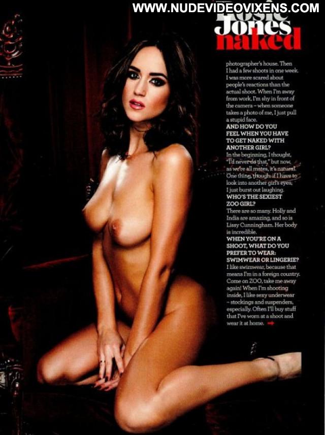 Rosie Jones Zoo Magazine Posing Hot Nude Magazine Photoshoot