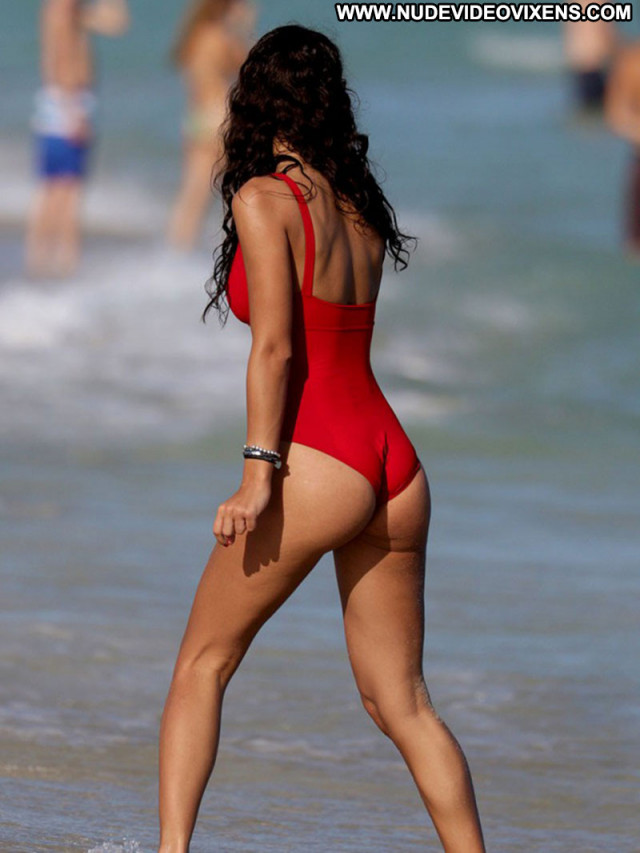 Raffaella Modugno No Source Celebrity Posing Hot Beach Swimsuit