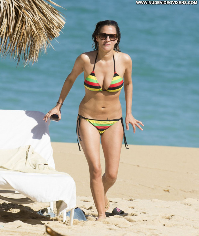 Caroline Flack No Source Bikini Celebrity Babe Posing Hot Beach
