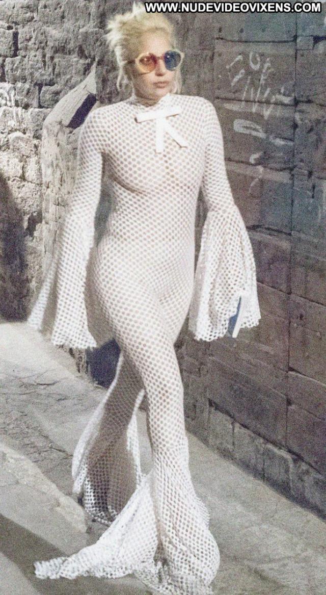 Lady Gaga No Source Babe Singer See Through Posing Hot Beautiful