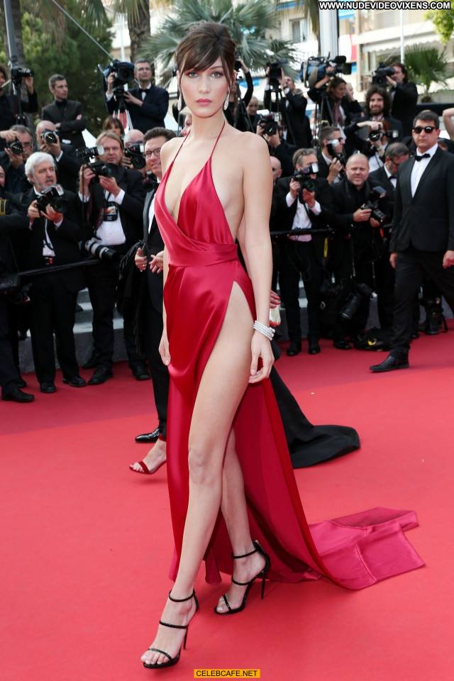 Bella Hadid Cannes Film Festival Sexy Babe Celebrity Posing Hot
