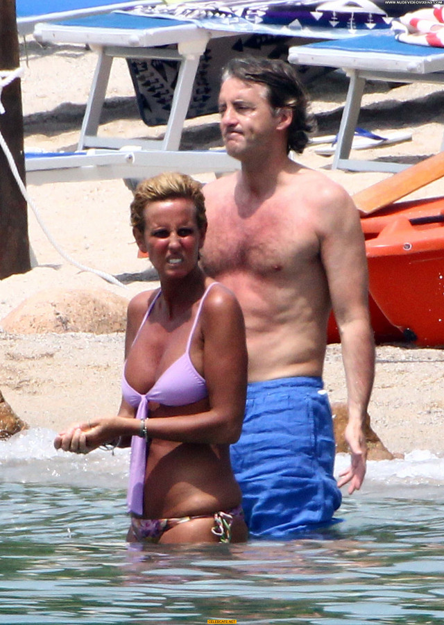 Federica Mancini No Source  Posing Hot Topless Celebrity Beach Toples