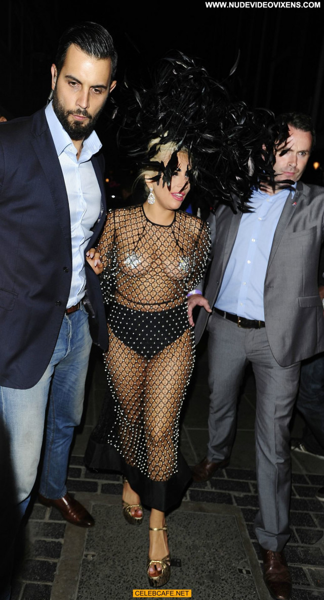 Lady Gaga No Source  Posing Hot Gag Pasties Beautiful Babe Fishnet