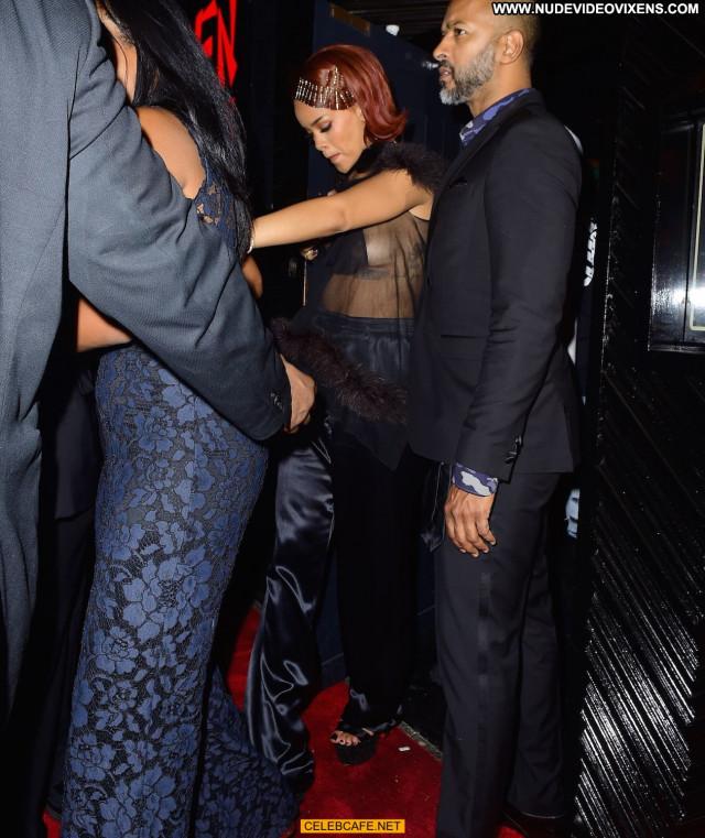 Rihanna No Source Posing Hot Celebrity Babe Party Beautiful Wardrobe