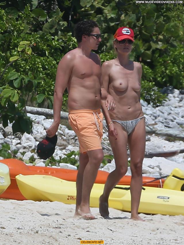Heidi Klum No Source Celebrity Beach Mexico Beautiful Posing Hot Babe