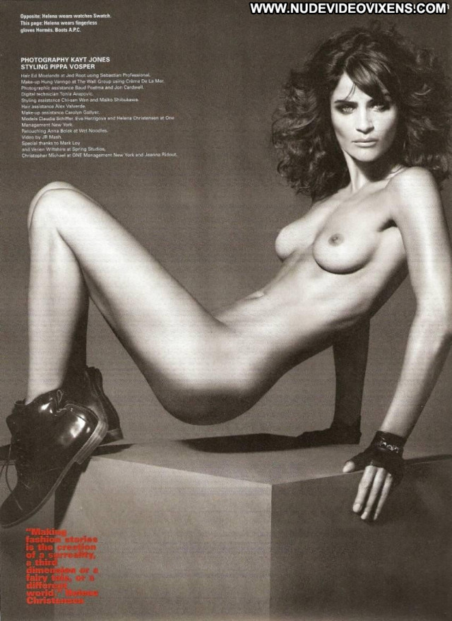 Helena Christensen Id Magazine Celebrity Big Tits Sultry Posing Hot