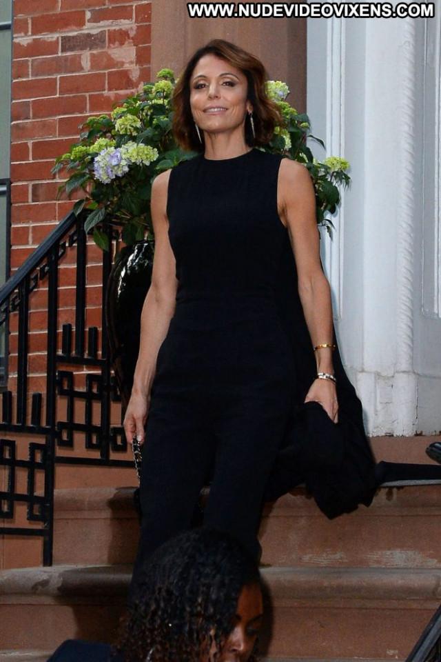 Bethenny Frankel New York Paparazzi Beautiful Posing Hot Black