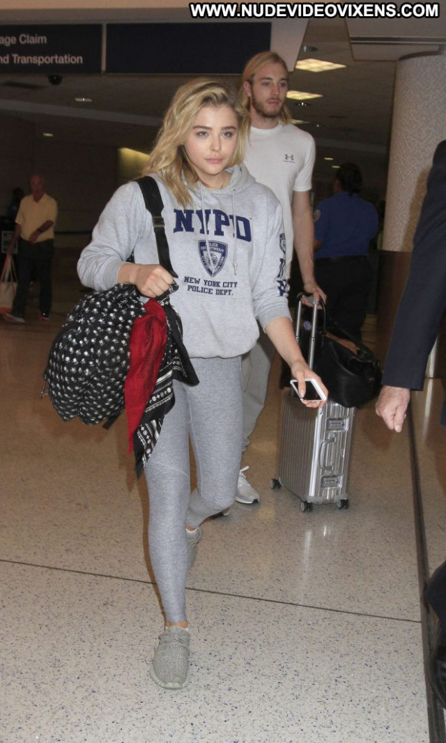 Chloe Moretz Lax Airport Lax Airport Paparazzi Celebrity Angel