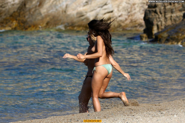 Shay Mitchell No Source Celebrity Babe Beautiful Toples Beach Posing