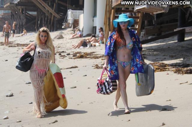 Alena Vodonaeva The Beach In Malibu Erotic Celebrity Sexy Redhead