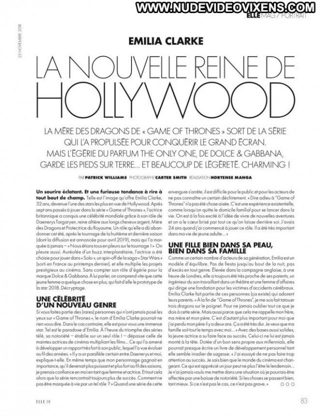Emilia Clarke Elle France Babe Beautiful France Magazine Posing Hot