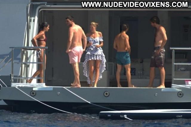 Sara Sampaio No Source Celebrity Ibiza Yacht Paparazzi Bikini Posing