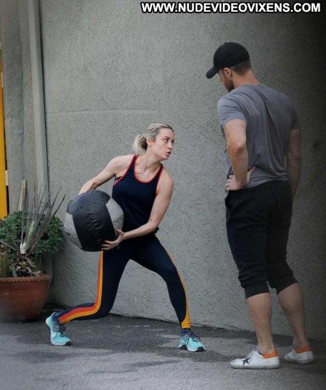 Brie Larson Los Angeles  Los Angeles Paparazzi Gym Beautiful Babe