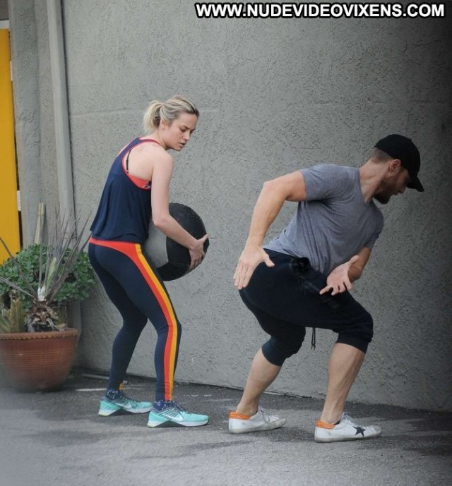 Brie Larson Los Angeles Celebrity Beautiful Gym Angel Los Angeles