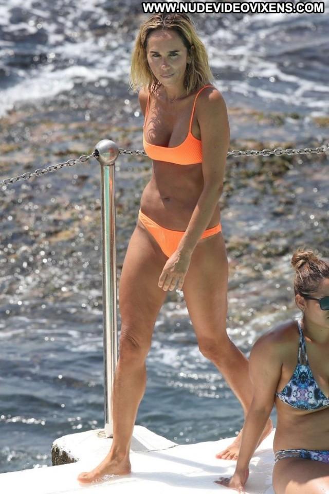 Pip Edwards The Pool Celebrity Bikini Beautiful Orange Babe Posing