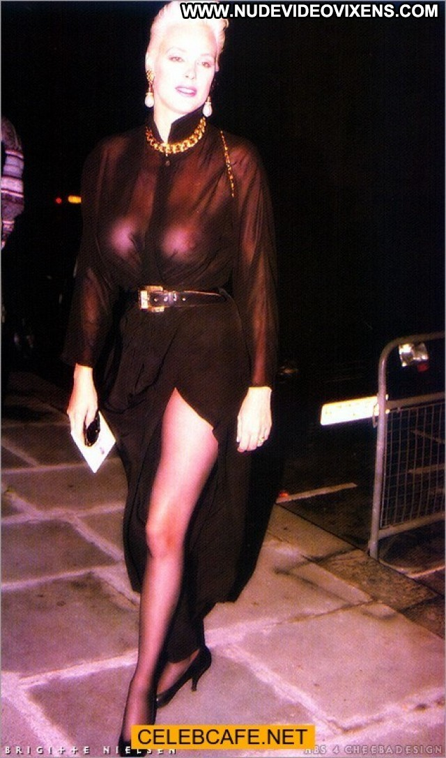 Brigitte Nielsen No Source See Through Posing Hot Celebrity Braless