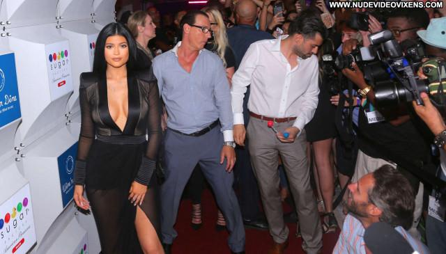 Kylie Jenner Miami Beach Paparazzi Celebrity Beach Babe Posing Hot