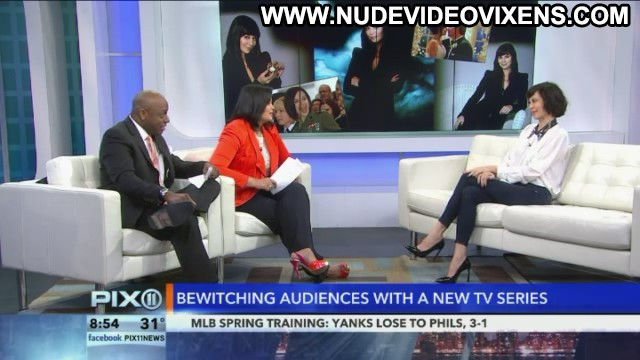 Catherine Bell Big Morning Buzz Live Posing Hot Celebrity Babe